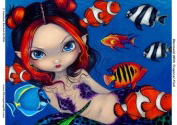 Mermaid With Tropical Fish